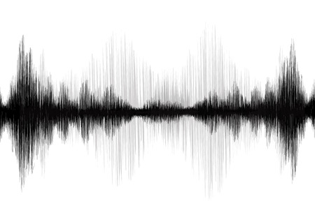 Earthquake Wave on white background Stock Illustratie