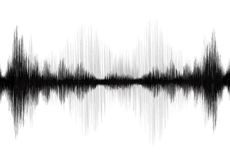 Earthquake Wave on white background Illustration