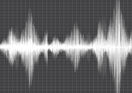 seismograph: Earthquake Wave with line graph on Grey paper background