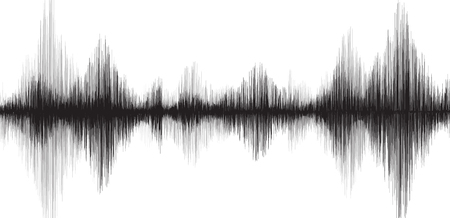 Classic Earthquake Wave on White paper background