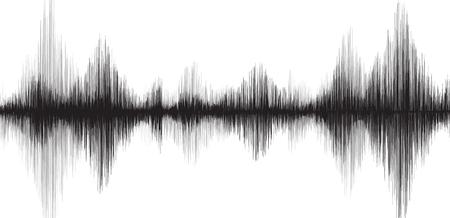 Klassische Erdbeben-Welle auf Weißbuchhintergrund
