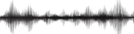 Panorama Super Earthquake Wave su sfondo di carta bianca Vettoriali