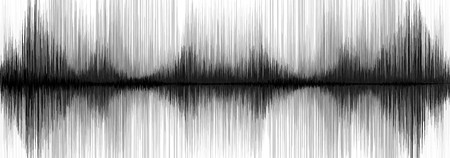 seismograph: Panorama Ultra Earthquake Wave on White paper background Illustration