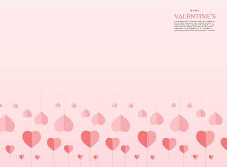 Modern Pink Valentines day background, lovely heart and chart concept, design for business and presentation, with space and text input vector illustration.