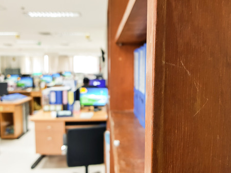 Documents bleus à une conception de rack pour les entreprises sur fond de bureau . Banque d'images - 93641678