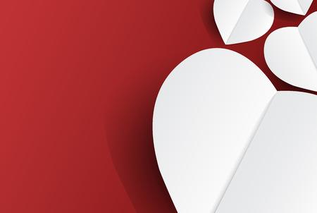 Fond de coeurs amoureux moderne, design concept de Saint Valentin avec espace et texte en vente, illustration vectorielle Banque d'images - 94102822