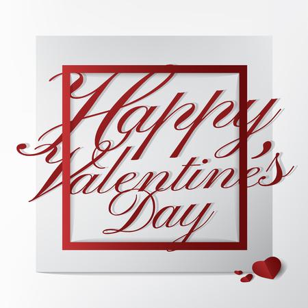 Carte de voeux de typographie moderne avec conception de texte Happy Valentines Day sur fond blanc; Illustration de concept.vector de carte classique et belle. Banque d'images - 94118490