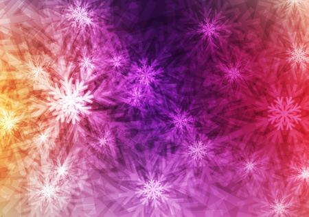 Résumé Galaxy flocons brillants ou cristal sur fond coloré; Concept d'hiver et de Noël; conception pour papier peint et autres; avec espace et saisie de texte; Vecteur; Illustration. Banque d'images - 98723436