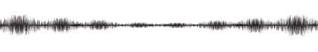 Ultra Panorama Mini Earthquake Wave on White paper background,audio wave diagram concept,design for education and science,Vector Illustration. Illustration