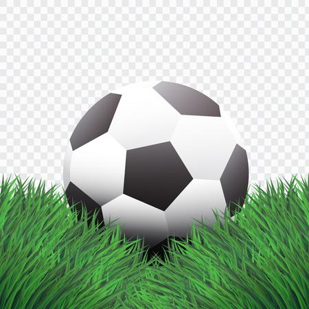 Style réaliste, football classique ou football sur la conception de l'herbe verte, fond isolé, vecteur, illustration. Banque d'images - 98723441