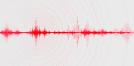Ultra violet digital Sound Wave Low and Hight richter scale with Circle Vibration on technology Background and earthquake wave diagram concept,design for music studio and science,Vector Illustration.
