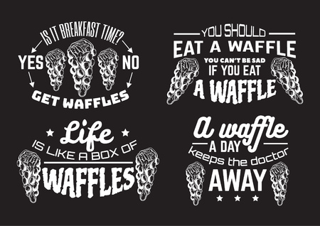Vector quote typographical background  with illustration of bubble Hong Kong waffles. Template for business card, poster, banner, print for t-shirt.