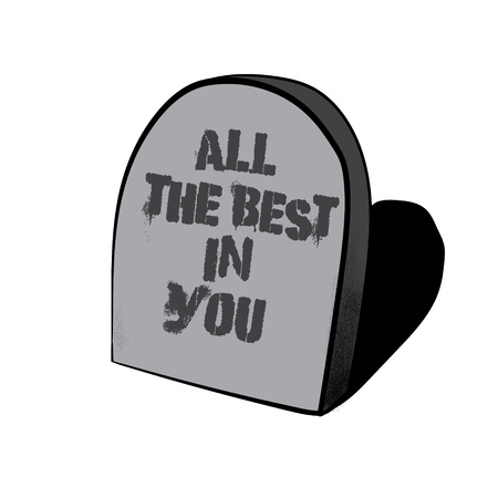 All The Best In You Vector Hand Drawn Illustration Of Tombstone