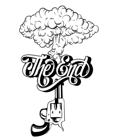 227 The End Of A Gun Stock Vector Illustration And Royalty Free The
