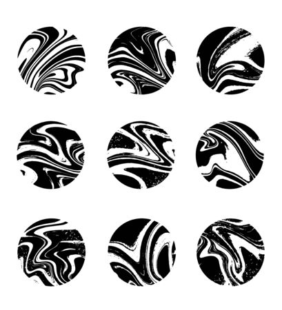 Vector set of  hand drawn illustration of planets isolated. Tattoo artwork. Template for card, poster, banner, print for t-shirt, pin, badge, patch.