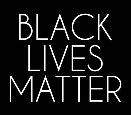 Black lives matter. Vector lettering  isolated. Template for card, poster, banner, print for t-shirt, pin, badge, patch.