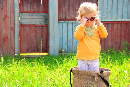resentful: Pretty resentful girl in the basket