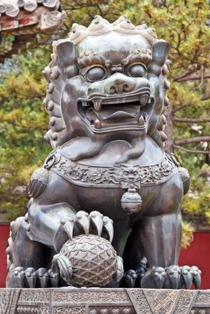 獅子または帝国保護者のライオンとして知られている中国の保護者のライオン