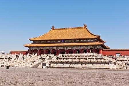 beijing: The Hall of Supreme Harmony, Forbidden City. Beijing, China.
