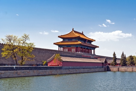 might: The Gate of Divine Might, the northern gate of Forbidden City. Beijing, China.