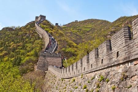 万里の長城。八達嶺、中国