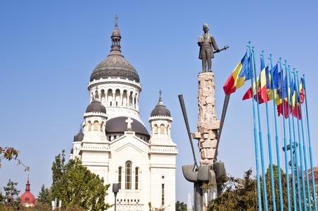 生神女就寝大聖堂アヴラム イアンク広場で。クルージュ = ナポカ。ルーマニア。