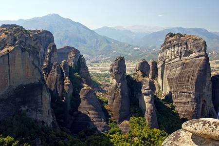 thessalia: Meteora - valley of Monasteries. Thessalia, Greece Stock Photo