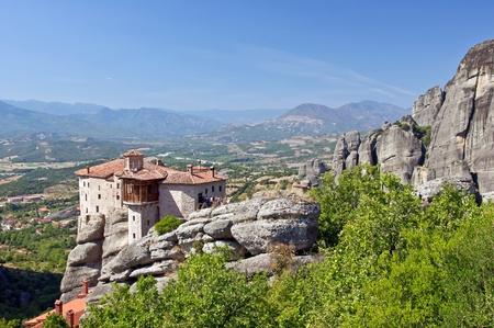 thessalia: The Holy Monastery of Rousanou. Meteora, Thessalia, Greece  Stock Photo