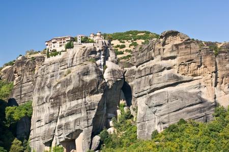 thessalia: Holy Monastery of Great Meteoron. Meteora, Thessalia, Greece  Stock Photo