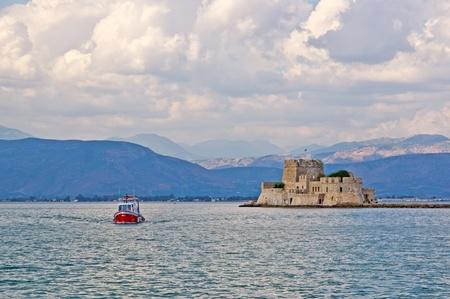 bourtzi: Sea view of Bourtzi Castle, Nafplion, Greece