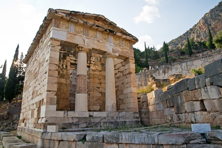 delfi: Treasury of Athens, Delphi, Greece