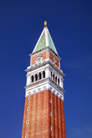 St Mark s Campanile is the bell tower of St Mark s Basilica in Venice, Italy, located in the Piazza San Marco  It is one of the most recognizable symbols of the city  photo