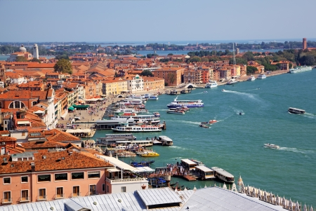 campanille: Venice  View from campanille at San Marco place in Venice, Italy