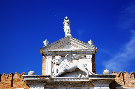 arsenal: Venice Arsenal and Naval Museum entrance  Venice, Italy Stock Photo