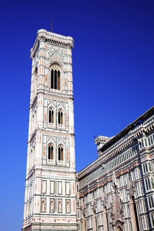 campanille: Campanille of Duomo Cathedral Santa Maria del Fiore in Florence, Tuscany, Italy