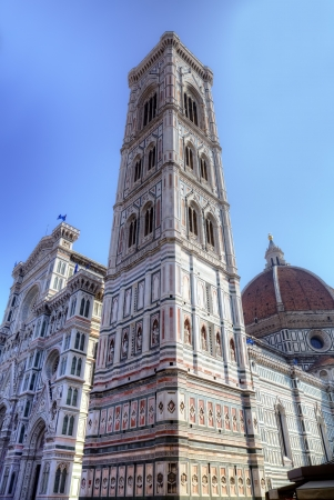 campanille: Campanille of Cathedral Santa Maria del Fiore in Florence, Tuscany, Italy Stock Photo
