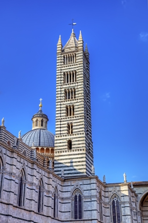campanille: Campanille of The Duomo  cathedral  of Siena  Tuscany, Italy