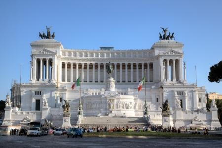 独立記念碑国立ヴィットーリオ ・ エマヌエーレ 2 世のローマのローマ、イタリア 写真素材