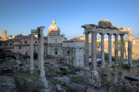 severus: The Roman Forum and Santi Luca e Martina  Roma  Rome , Italy
