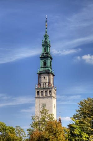gora: Campanille of Jasna Gora Monastery  Czestochowa, Poland Stock Photo