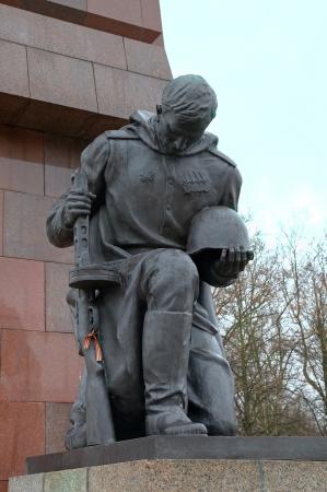 mourn: Soviet War Memorial in Treptower Park  Berlin, Germany Stock Photo