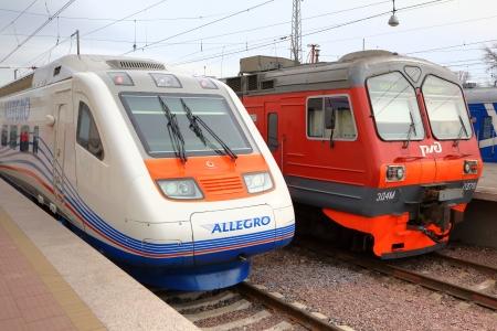 allegro: Allegro train  Saint Petersburg, Russia - Helsinki, Finland  and suburban train Saint-Petersburg - Vyborg