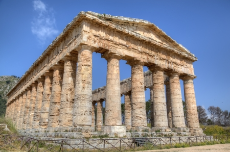 Doric Temple in Segesta, Sicily, Italy photo