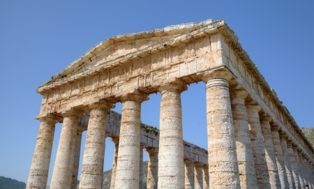 Doric Temple in Segesta, Sicily, Italy photo