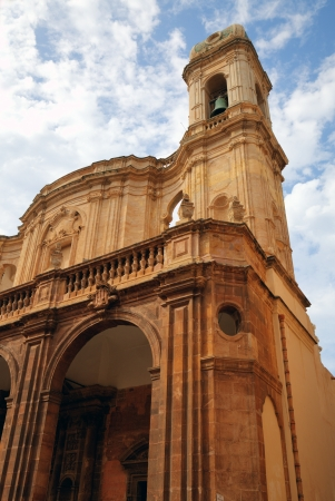 cattedrale: Cathedral of St  Lorenzo  Cattedrale di San Lorenzo  in Trapani  Sicily, Italy Stock Photo