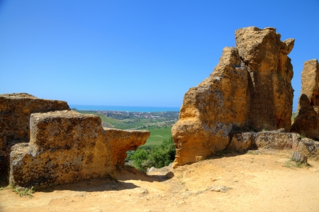 valley of the temples: Valley of Temples, Agrigento  Sicily, Italy Stock Photo