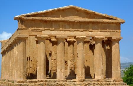 Temple of Concordia in Agrigento  Sicily, Italy photo