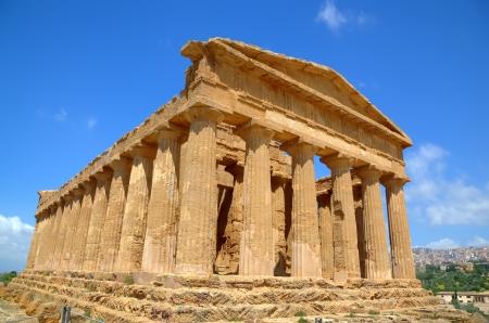 agrigento: Temple of Concordia in Agrigento  Sicily, Italy