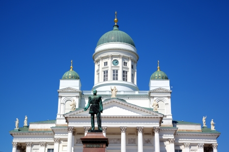 Tuomiokirkko Cathedral church in Helsinki, Finland photo