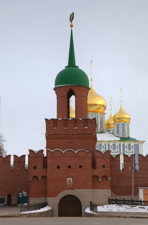 Main tower and entrance of Kremlin  Tula, Russia photo